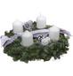 GARTENKRONE Adventskranz, Edeltanne, Ø: 35 cm, weiß dekoriert-Thumbnail
