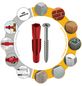 TOX Allzweckdübel, Polyethylen, 12 Stück, 5 x 31 mm-Thumbnail