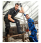 BULLSTAR Arbeitshose »EVO«, Schwarz/Kornblumenblau-Thumbnail