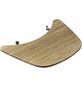 WEBER Arbeitstisch, edelstahl/aluminium/kunststoff/bambus, silberfarben/holzfarben/schwarz, BxHxT: 43,3 x 4,2 x 55,3 cm-Thumbnail