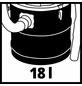 EINHELL Aschesauger »TC-AV 1618 D«, 1200 W, 18 l, Schlauchlänge: 1 m-Thumbnail