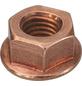 SWG Auspuffsicherungsmutter mit Bund, M8, Kupfer, Stahl-Thumbnail