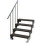 DOLLE Außentreppe »Gardentop«, 4 Vollstufen, braun, 72 cm Geschosshöhe-Thumbnail