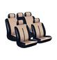 EUFAB Autositzbezug, Buffalo, Braun, Polyester | Kunstleder, 17-tlg., für hinten und vorne-Thumbnail