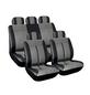 EUFAB Autositzbezug-Set, Buffalo, Schwarz   Grau, Polyester   Kunstleder, 17-tlg., für hinten und vorne-Thumbnail