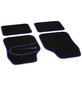 UNITEC Autoteppich-Set, Blau, 2x 65 x 43 cm, 2x 43 x 33,5 cm, Polyamid (PA)-Thumbnail