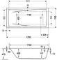 OTTOFOND Badewanne »Atlanta«, BxHxL: 75 x 45,5 x 170 cm, Körperform-Thumbnail