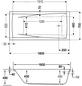 OTTOFOND Badewanne »Atlanta«, BxHxL: 75 x 46 x 160 cm, Körperform-Thumbnail