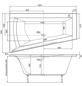 OTTOFOND Badewanne »Galia I«, BxHxL: 100 x 51 x 160 cm, trapezförmig-Thumbnail