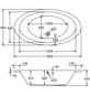 OTTOFOND Badewanne »Gomera«, BxHxL: 96 cm x 180 cm x 39 cm-Thumbnail