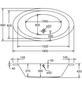 OTTOFOND Badewanne »Gomera«, BxHxL: 96 x 39 x 180 cm, oval-Thumbnail