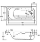 OTTOFOND Badewanne »Korfu«, BxHxL: 80 cm x 170 cm x 42 cm-Thumbnail