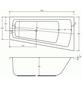 SANICOMFORT Badewanne »LUXOR«, L x B: 170 cm x 60 cm-Thumbnail