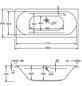 OTTOFOND Badewanne »Madera«, BxHxL: 80 x 42 x 180 cm, Körperform-Thumbnail