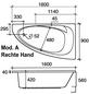 OTTOFOND Badewanne »Marina«, BxHxL: 90 x 42 x 160 cm, trapezförmig-Thumbnail