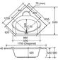 OTTOFOND Badewanne »Miami«, BxHxL: 125 x 42,5 x 125 cm, trapezförmig-Thumbnail