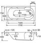 OTTOFOND Badewanne »Nixe«, BxHxL: 75 cm x 170 cm x 58 cm-Thumbnail