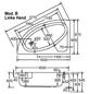 OTTOFOND Badewanne »Salina B«, BxHxL: 97 x 39,5 x 150 cm, viertelkreis-Thumbnail