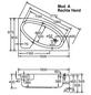 OTTOFOND Badewanne »Salinas A«, BxHxL: 97 x 39,5 x 150 cm, viertelkreis-Thumbnail