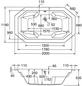 OTTOFOND Badewanne »Sumatra«, BxHxL: 118 x 53,5 x 200 cm, achteckig-Thumbnail