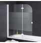 WELLWATER Badewannenfaltwand, B x H: 112  x 140  cm, Glas (ESG)-Thumbnail