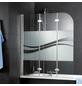 SCHULTE Badewannenfaltwand, B x H: 140  x 125  cm, Glas (ESG)-Thumbnail