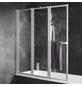 SCHULTE Badewannenfaltwand »Komfort«, B x H: 126,8  x 140  cm, Kunstglas-Thumbnail