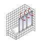 SCHULTE Badewannentrennwand »Komfort«, BxH: 126,4 x 140 cm, Sicherheitsglas-Thumbnail