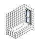 SCHULTE Badewannentrennwand »Komfort«, BxH: 126,8 x 140 cm, Kunstglas-Thumbnail