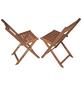 GARDEN PLEASURE Balkon-Hängetisch-Set »Berkeley«, 2 Sitzplätze, aus Eukalyptusholz-Thumbnail