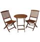 GARDEN PLEASURE Balkontischgruppe »Prag«, 2 Sitzplätze, aus Eukalyptusholz-Thumbnail