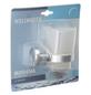 WELLWATER Becherhalter »Modena«, Glas/Metall, transparent/chromfarben-Thumbnail