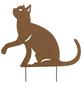 Beetstecker, Katze, rostfarben, Metall-Thumbnail