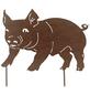Beetstecker, Schwein, rostfarben, Metall-Thumbnail