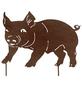 Beetstecker, Schweinchen, rostfarben, Metall-Thumbnail