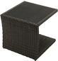 ploß® Beistelltisch »Jardel«, Kunststoffgeflecht, graubraun/dunkelbraun, BxHxT: 50 x 50 x 45 cm-Thumbnail