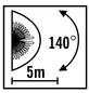 KONSTSMIDE Bewegungsmelder »MODERN«, 75 W, inkl. Bewegungsmelder-Thumbnail