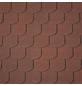 RENOVO Bitumendachschindeln, Biber, Halbrund, Rot, 2 m², ca. 100 x 33,3 cm-Thumbnail