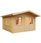 MR. GARDENER Blockbohlenhaus »Alaska 1«, BxT: 426 x 450 cm (Aufstellmaße), Satteldach-Thumbnail