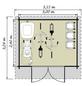 LUOMAN Blockbohlenhaus, B x T: 350 x 324 cm, Satteldach, inkl. Fußboden-Thumbnail