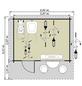 LUOMAN Blockbohlenhaus, B x T: 446 x 432 cm, Satteldach, inkl. Fußboden-Thumbnail