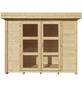 Kiehn-Holz Blockbohlenhaus »Desoto«, B x T: 277 x 278 cm, Flachdach-Thumbnail