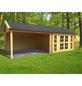 Gardenhouses® Blockbohlenhaus »Hannover«, B x T: 760 x 360 cm-Thumbnail