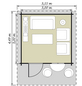 Kiehn-Holz Blockbohlenhaus »KH 44-015«, BxT: 355 x 499 cm (Aufstellmaße), Satteldach-Thumbnail