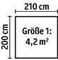 Kiehn-Holz Blockbohlenhaus »KH«, BxT: 270 x 243 cm (Aufstellmaße), Satteldach-Thumbnail