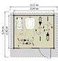 Kiehn-Holz Blockbohlenhaus »KH«, BxT: 320 x 260 cm (Aufstellmaße), Satteldach-Thumbnail