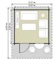 Kiehn-Holz Blockbohlenhaus »KH«, BxT: 355 x 449 cm, Satteldach-Thumbnail