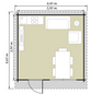 Kiehn-Holz Blockbohlenhaus »KH«, BxT: 440 x 460 cm (Aufstellmaße), Satteldach-Thumbnail