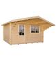 Kiehn-Holz Blockbohlenhaus »KH«, BxT: 446 x 432 cm (Aufstellmaße), Satteldach-Thumbnail