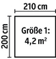 LUOMAN Blockbohlenhaus »Lillevilla«, B x T: 270 x 243 cm, Satteldach, inkl. Fußboden-Thumbnail